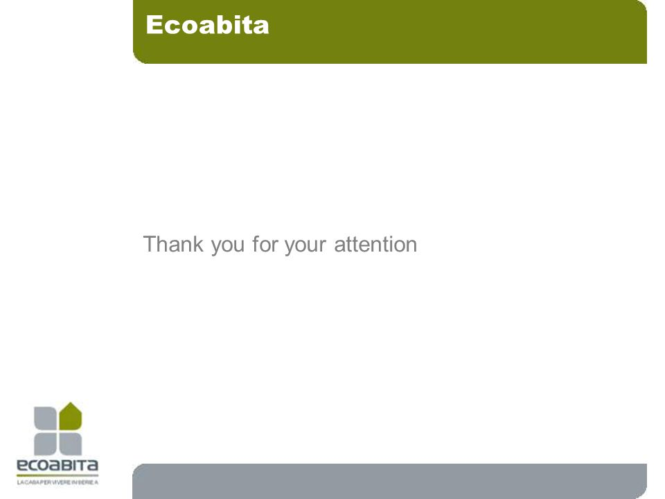 Thank you for your attention Ecoabita