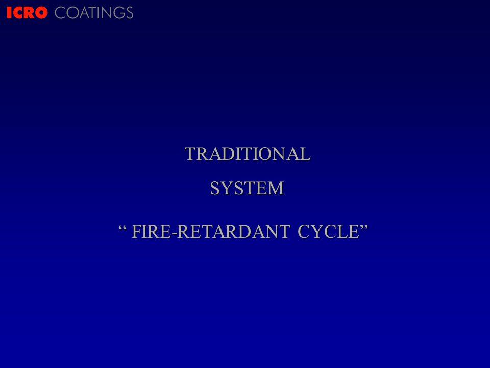 ICRO COATINGSTRADITIONALSYSTEM FIRE-RETARDANT CYCLE