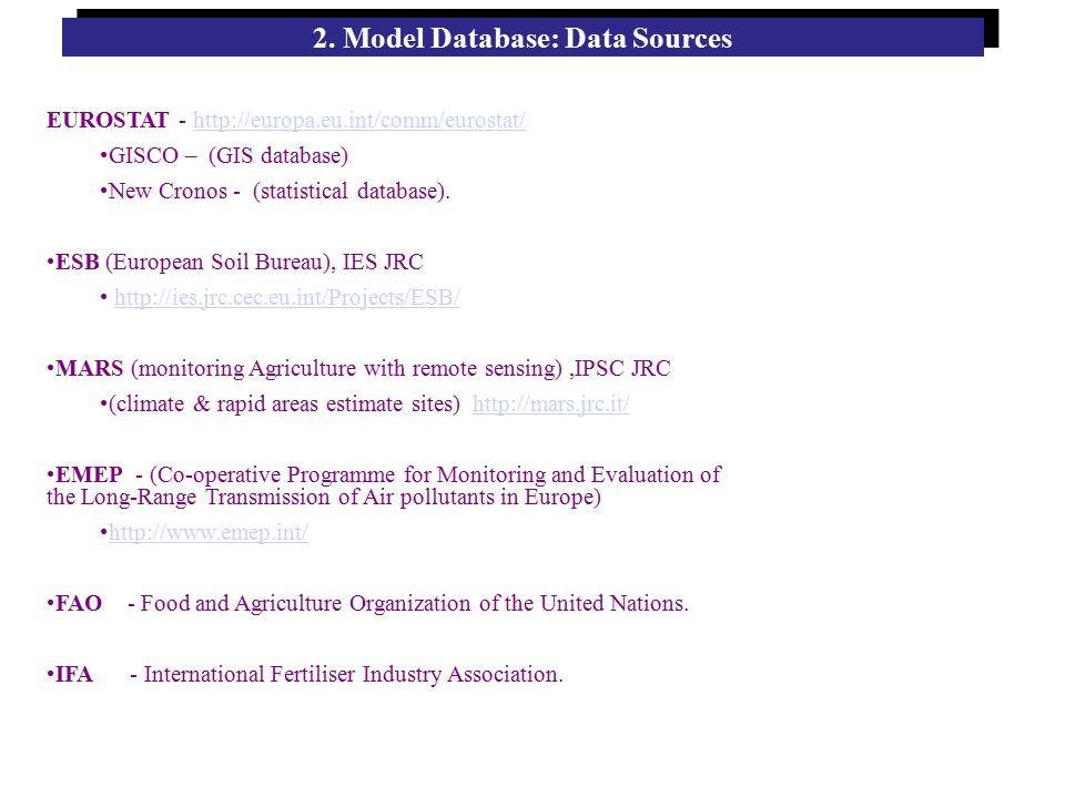 EUROSTAT - http://europa.eu.int/comm/eurostat/http://europa.eu.int/comm/eurostat/ GISCO – (GIS database) New Cronos - (statistical database).