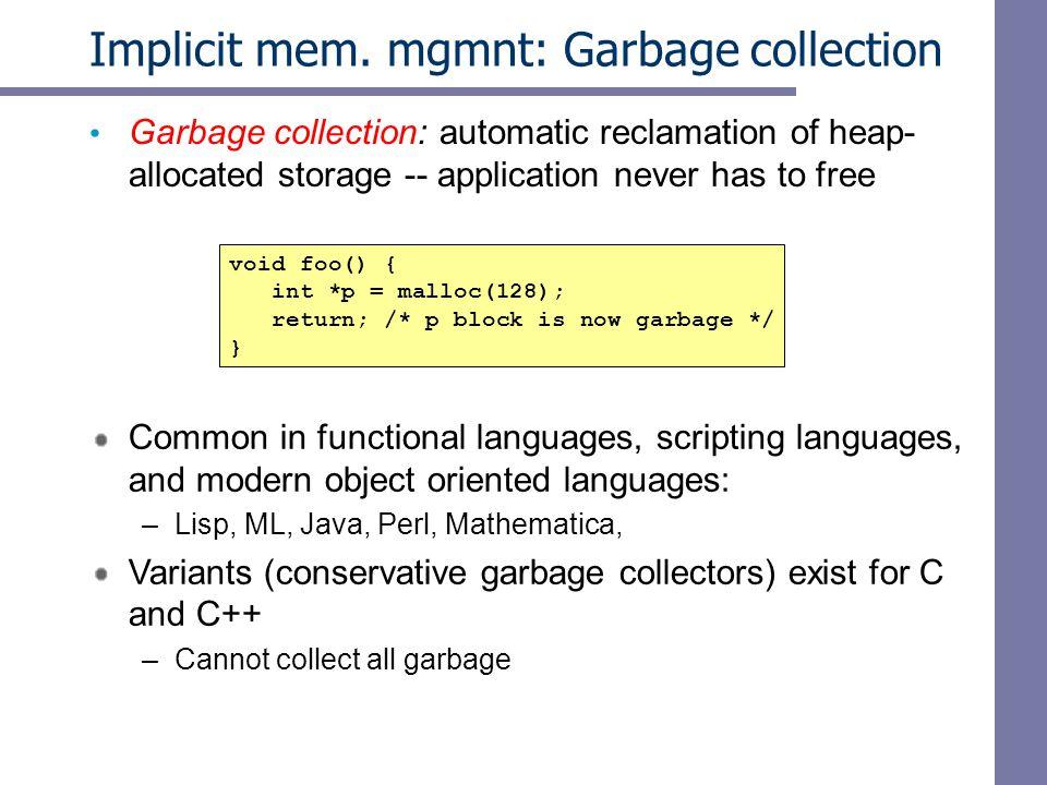 Implicit mem.