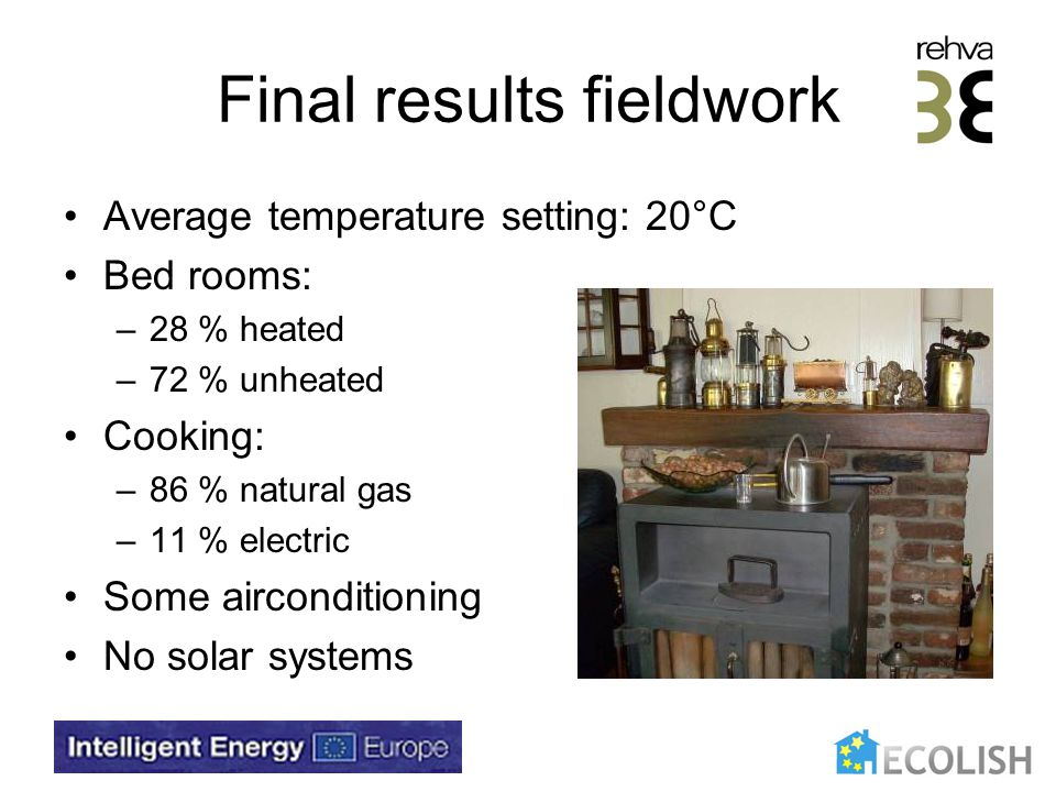 Conclusions (1) Fuel poverty is becoming a serious problem for (social) housing In social housing energy costs are high in combination with poor thermal comfort and indoor air quality Saving potential and benefits are high Benefits can be allocated to investments
