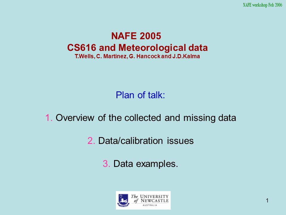 2 1.NAFE/SASMAS Site data Overview.