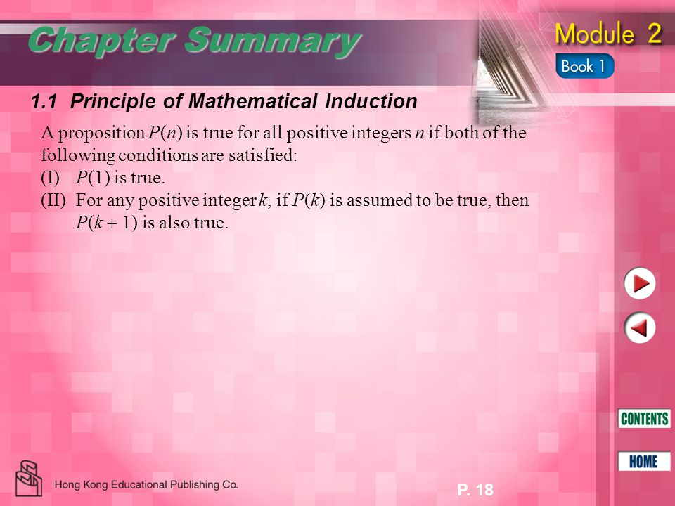 P.19 1.2 Divisibility Chapter Summary Suppose p and q are two integers.