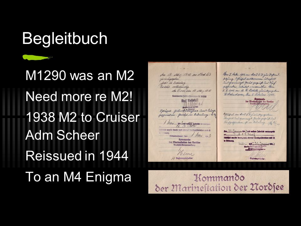 Begleitbuch For Naval Enigmas When issued Where Repairs Movements € nicht fur kaufen!