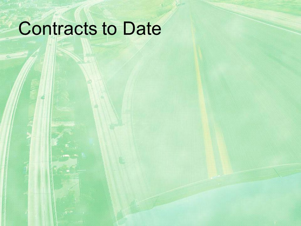 Contracts to Date
