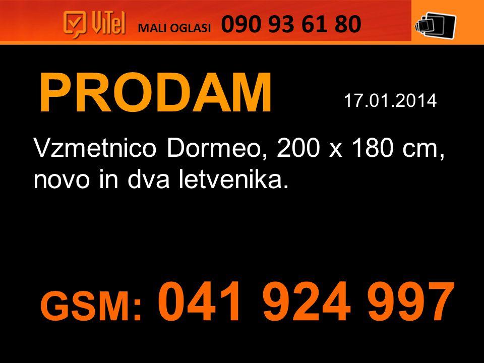 PRODAM Vzmetnico Dormeo, 200 x 180 cm, novo in dva letvenika.