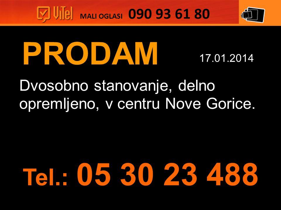 PRODAM Dvosobno stanovanje, delno opremljeno, v centru Nove Gorice.