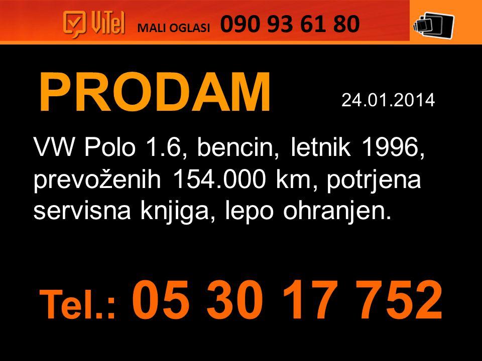 PRODAM VW Polo 1.6, bencin, letnik 1996, prevoženih 154.000 km, potrjena servisna knjiga, lepo ohranjen.