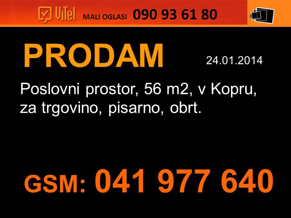 PRODAM Poslovni prostor, 56 m2, v Kopru, za trgovino, pisarno, obrt.