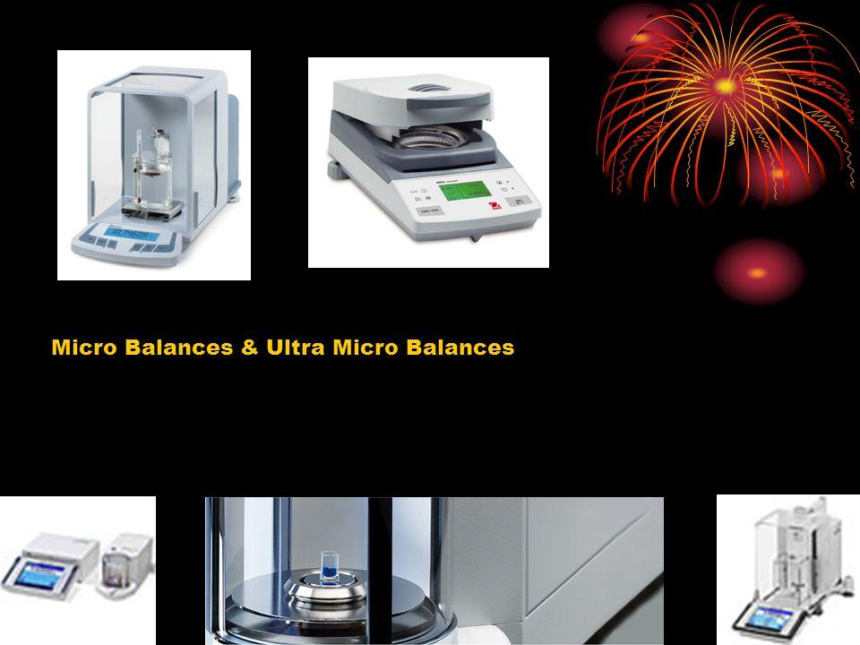 Micro Balances & Ultra Micro Balances