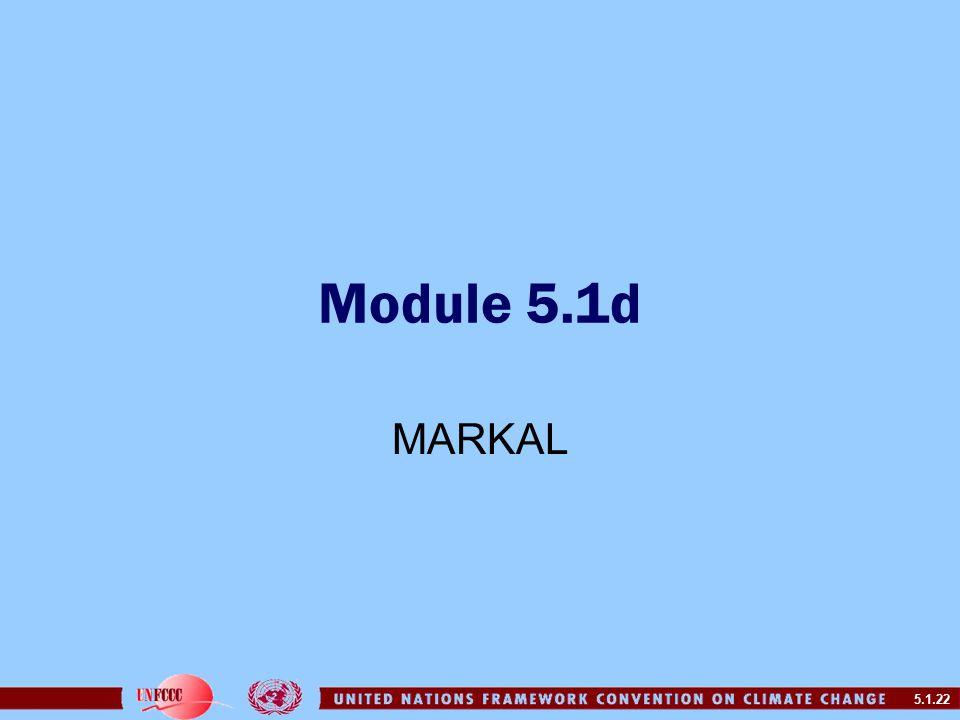 5.1.22 Module 5.1d MARKAL