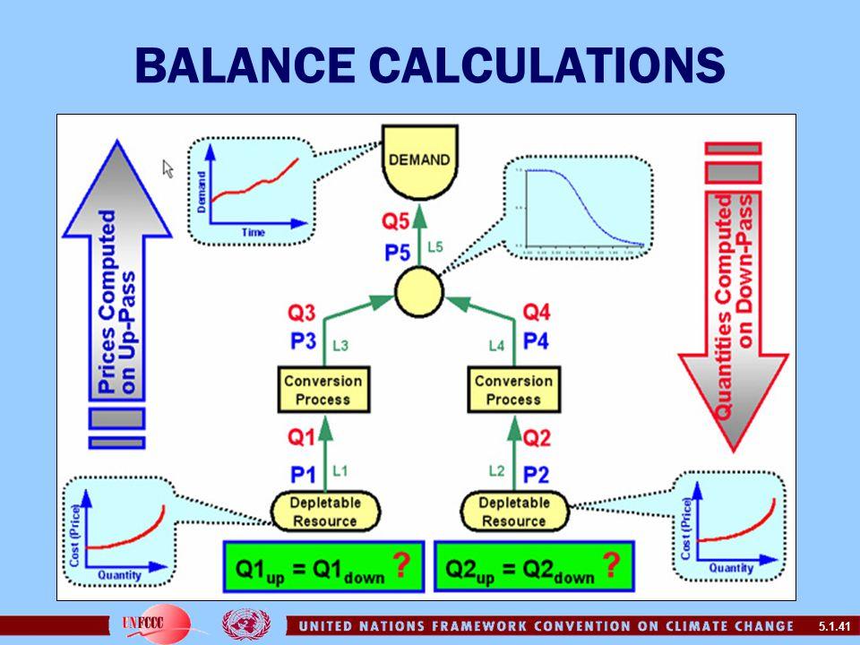5.1.41 BALANCE CALCULATIONS