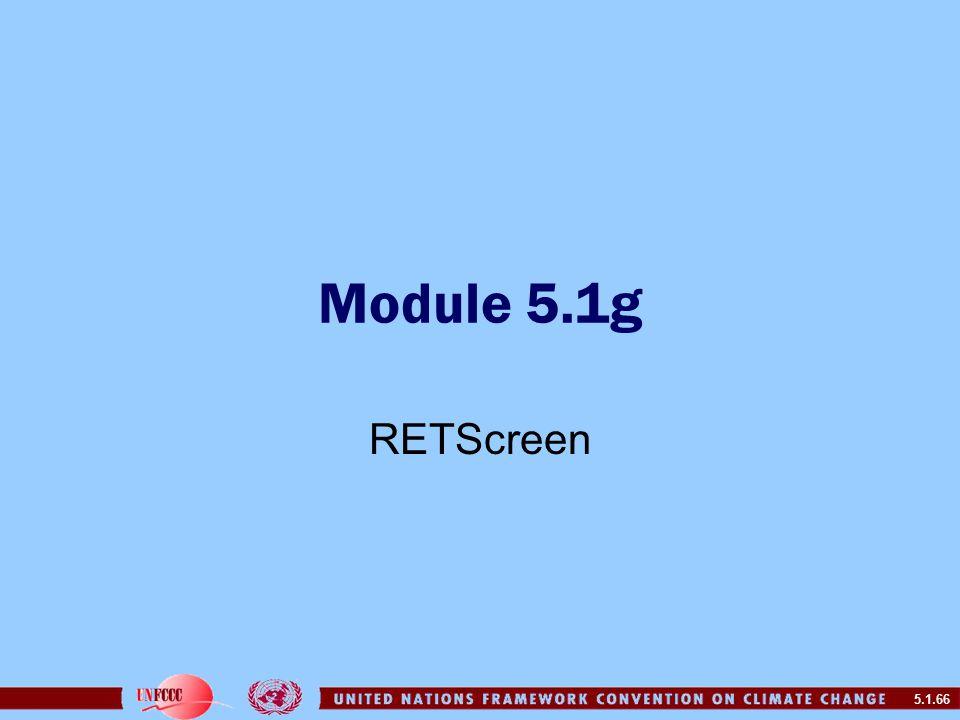 5.1.66 Module 5.1g RETScreen