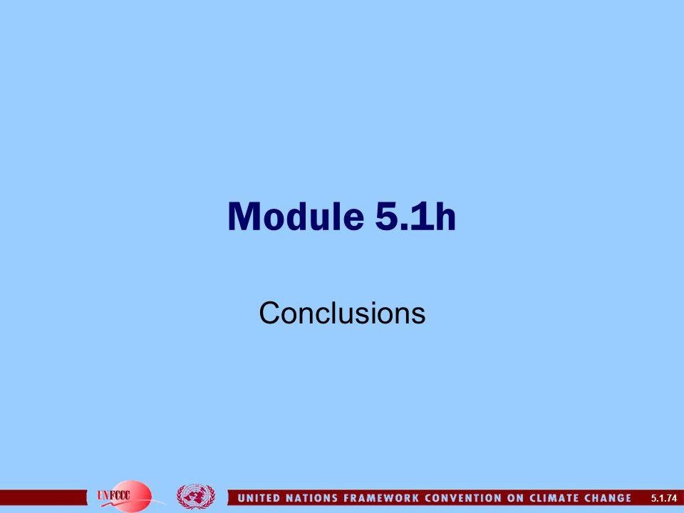 5.1.74 Module 5.1h Conclusions