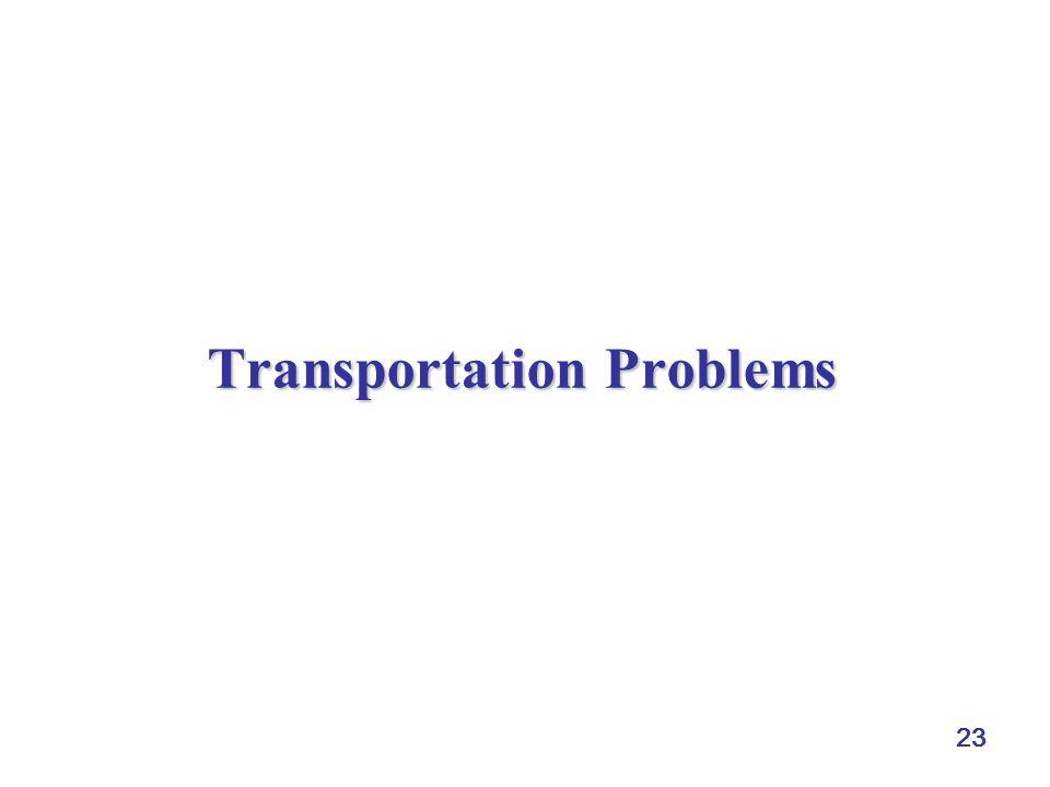 23 Transportation Problems
