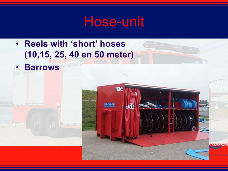 Hose-unit Reels with 'short' hoses (10,15, 25, 40 en 50 meter) Barrows