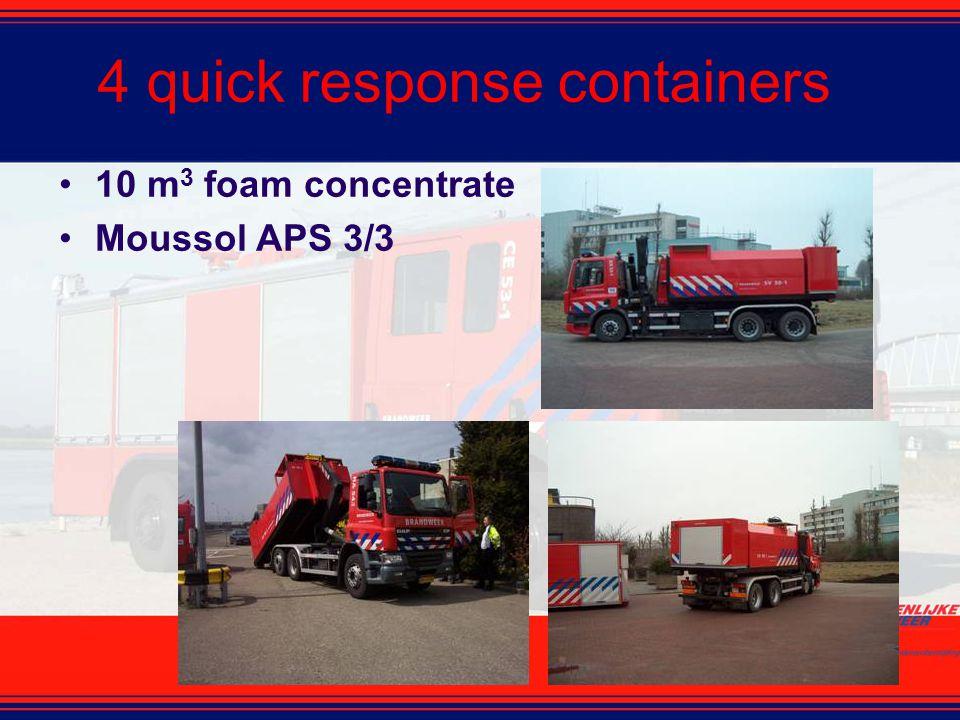 4 quick response containers 10 m 3 foam concentrate Moussol APS 3/3