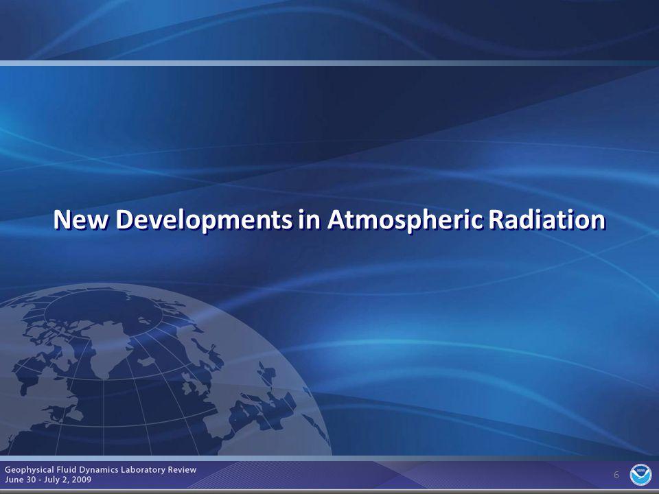 6 6 New Developments in Atmospheric Radiation
