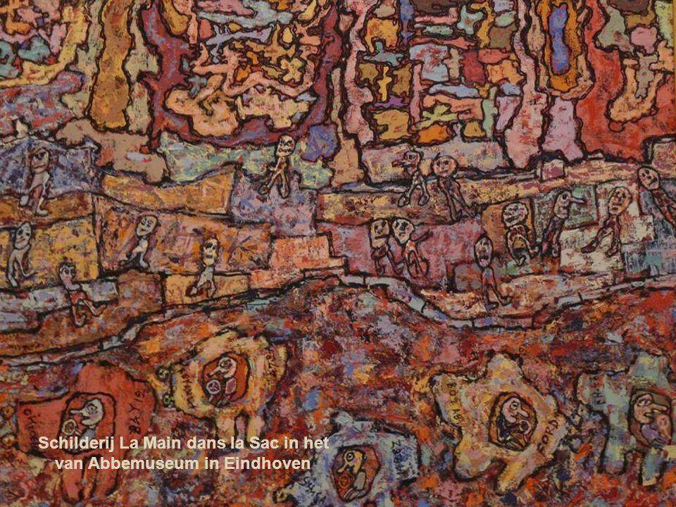 Schilderij La Main dans la Sac in het van Abbemuseum in Eindhoven