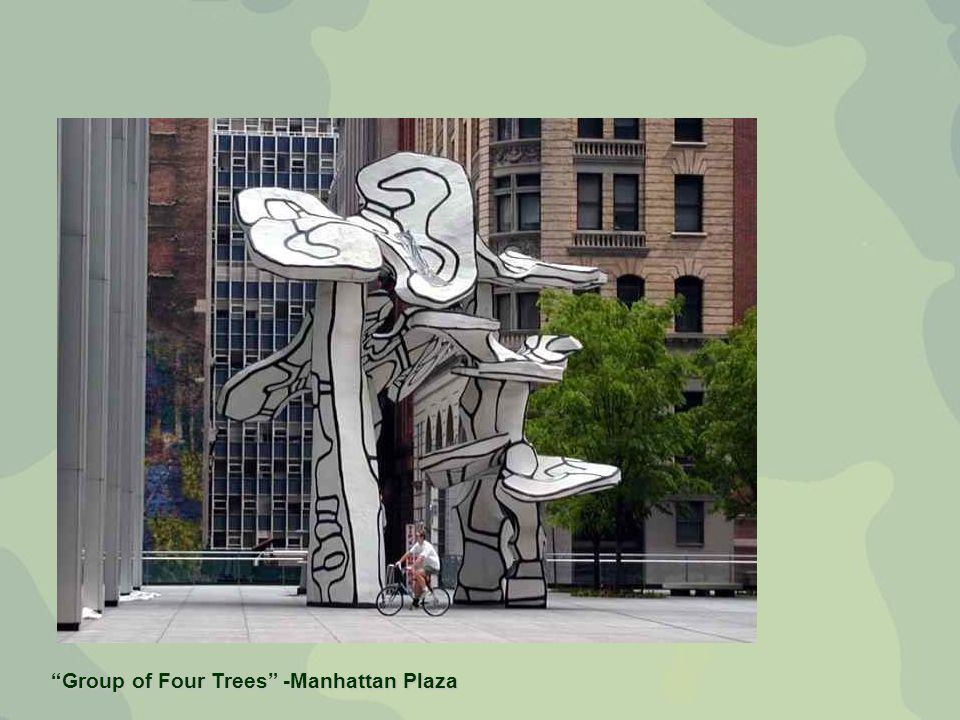 Group of Four Trees -Manhattan Plaza