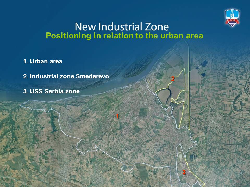 1. Urban area 2. Industrial zone Smederevo 3.