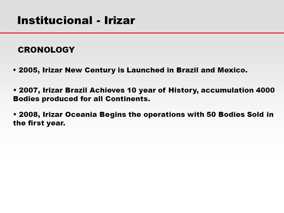 Institucional - Irizar 2007, Irizar Brazil Achieves 10 year of History, accumulation 4000 Bodies produced for all Continents.