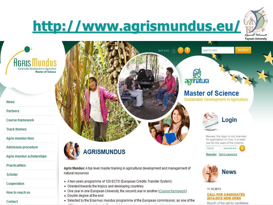 http://www.agrismundus.eu/ 16 April 201511