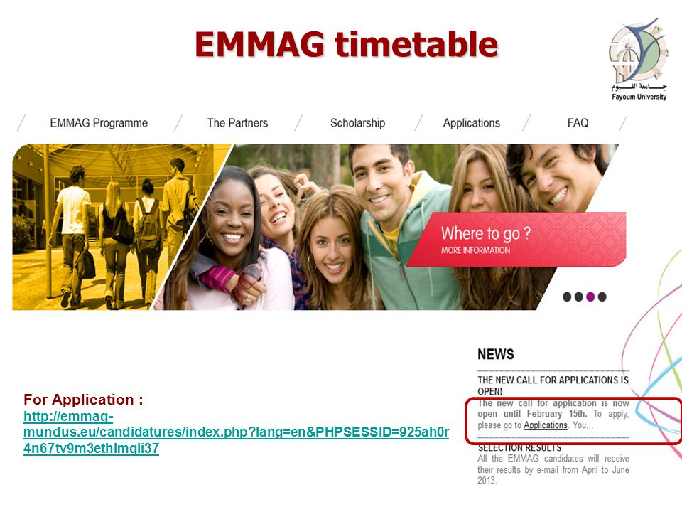EMMAG timetable EMMAG timetable 16 April Prof.
