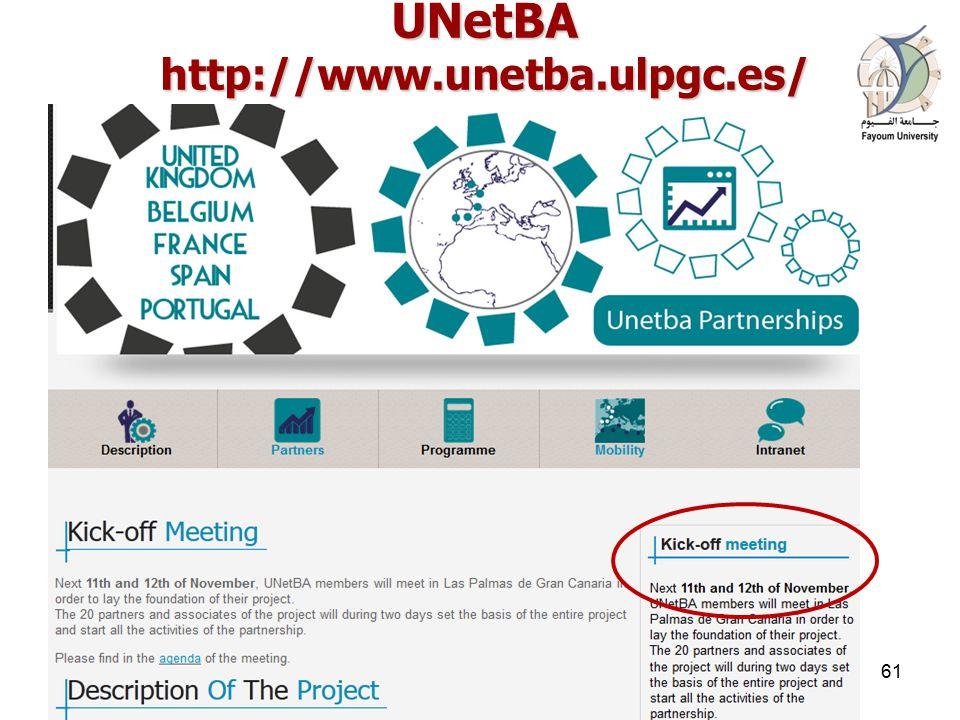 UNetBA http://www.unetba.ulpgc.es/ 16 April 201561