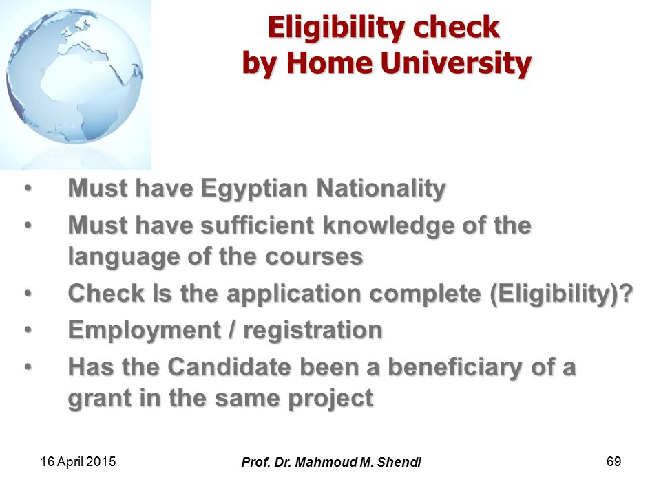 16 April 2015 Prof. Dr. Mahmoud M.