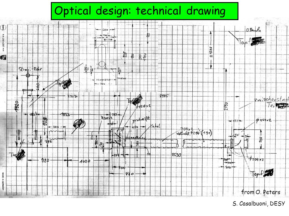 S. Casalbuoni, DESY Optical design: technical drawing from O. Peters