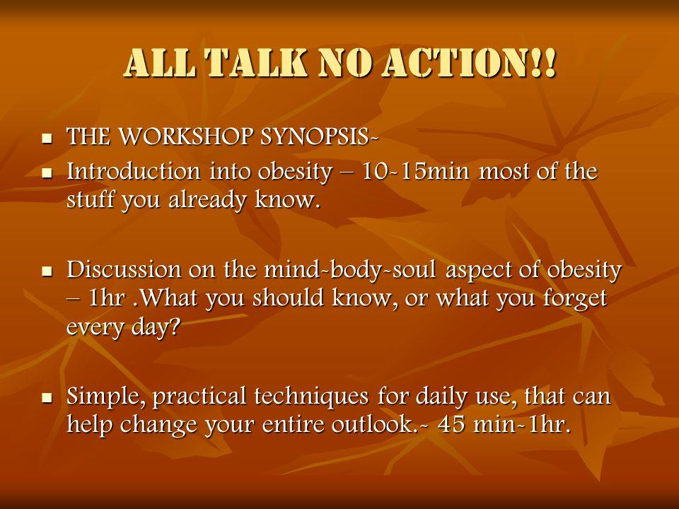 All talk no ACTION!.