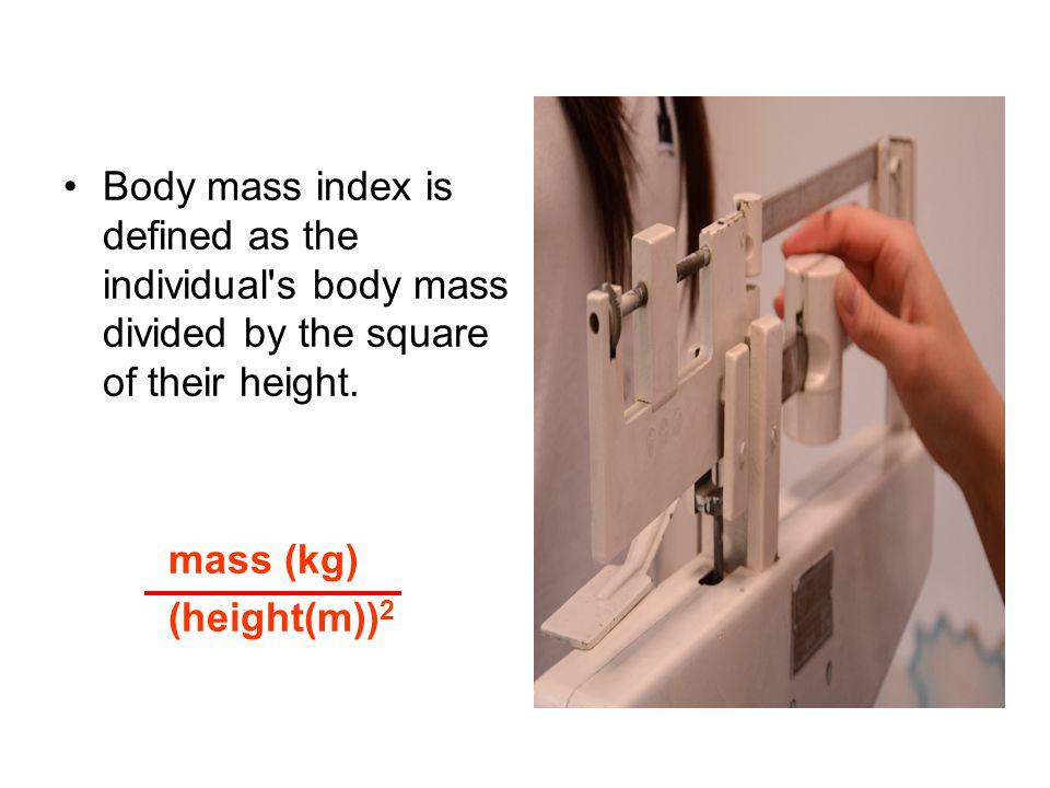 Category BMI range – kg/m2 Very severely underweight less than 15 Severely underweight from 15.0 to 16.0 Underweight from 16.0 to 18.5 Normal (healthy weight) from 18.5 to 25 Overweight from 25 to 30 Obese Class I (Moderately obese) from 30 to 35 Obese Class II (Severely obese) from 35 to 40 Obese Class III (Very severely obese) over 40