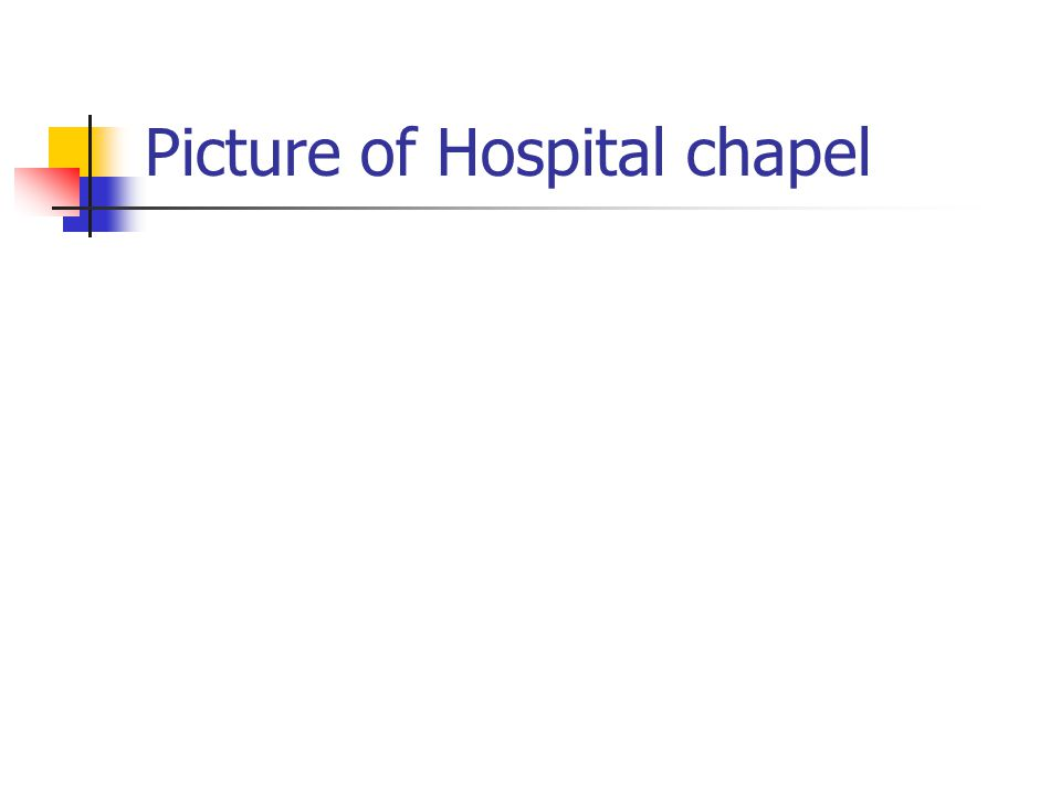 Picture of Hospital chapel