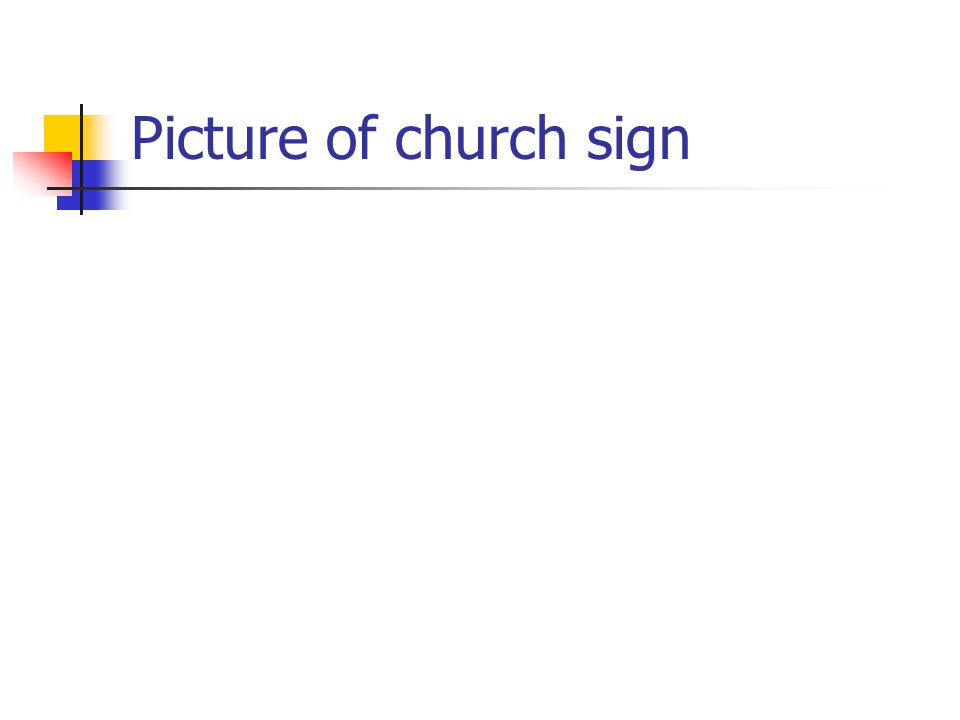 Picture of church sign