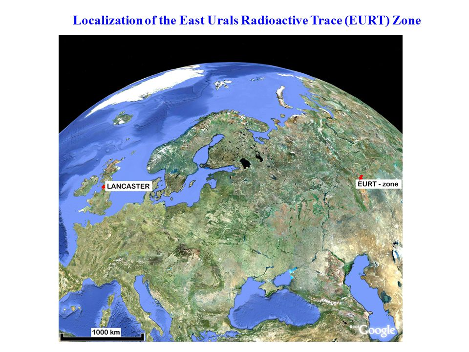 Localization of the East Urals Radioactive Trace (EURT) Zone