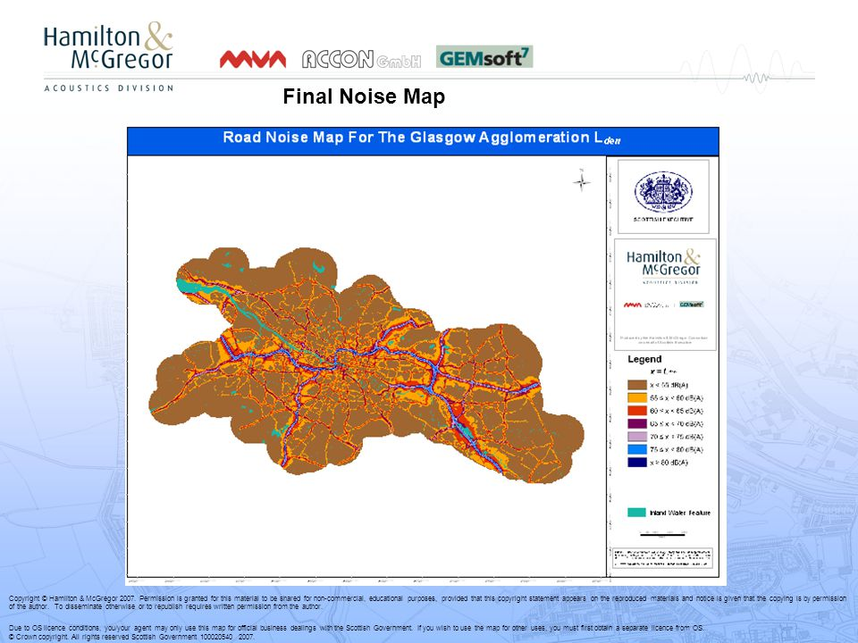 Final Noise Map Copyright © Hamilton & McGregor 2007.