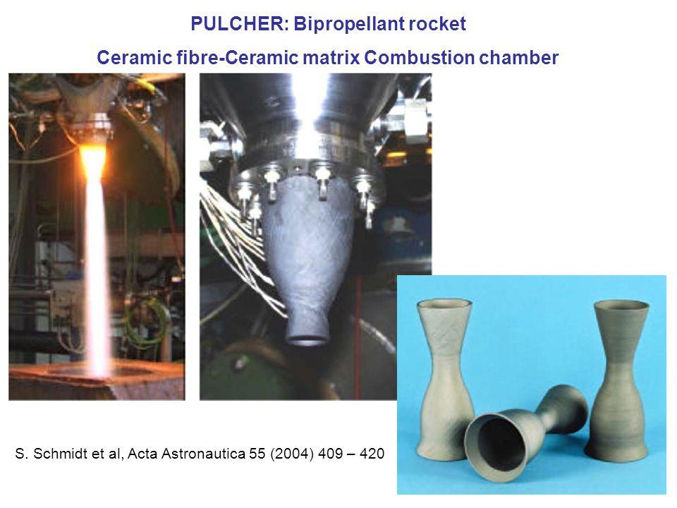PULCHER: Bipropellant rocket Ceramic fibre-Ceramic matrix Combustion chamber S.