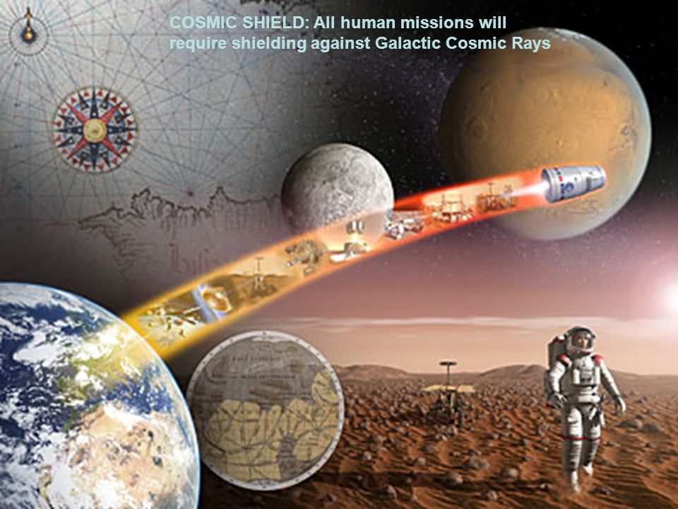 COSMIC SHIELD: All human missions will require shielding against Galactic Cosmic Rays