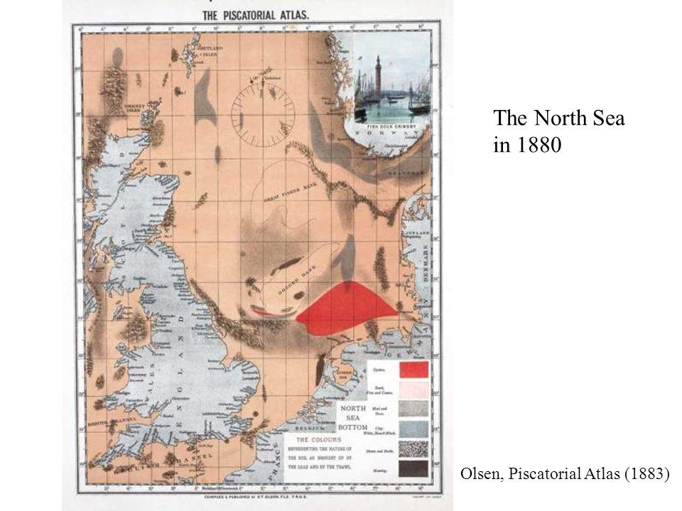 The North Sea in 1880 Olsen, Piscatorial Atlas (1883)