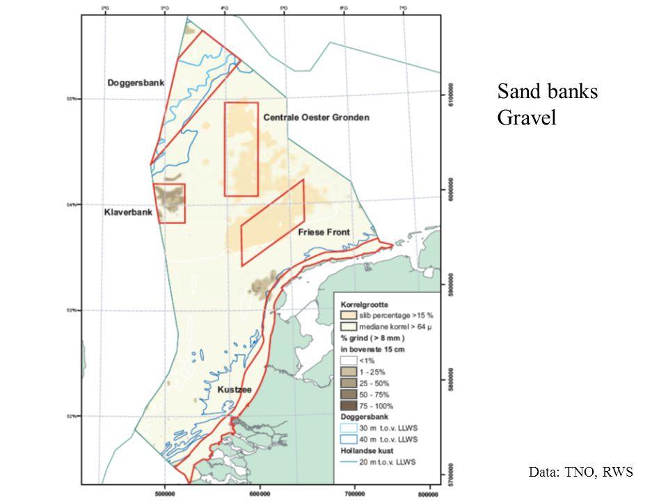Sand banks Gravel Data: TNO, RWS