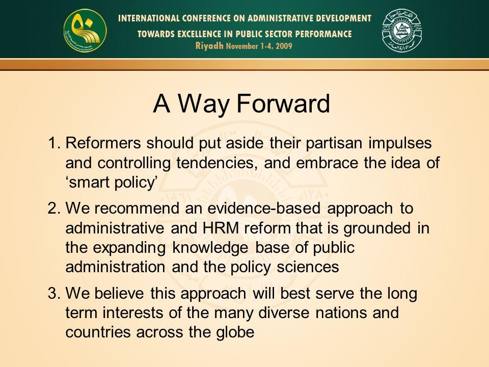 A Way Forward 1.