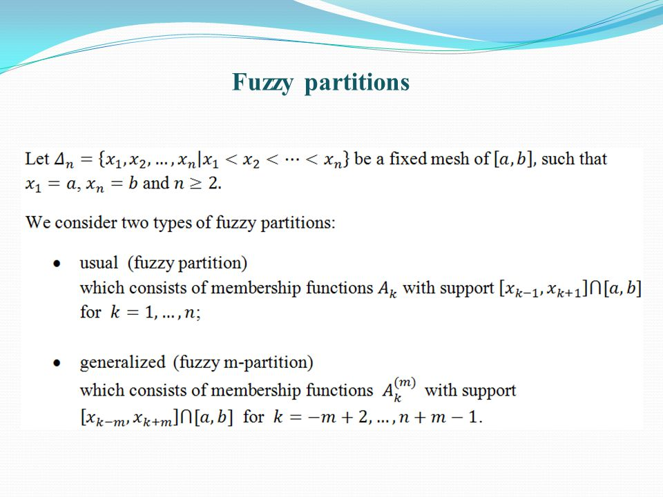Fuzzy partitions