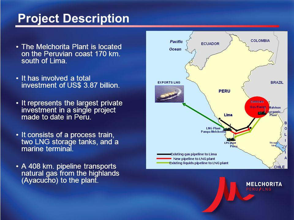 Route of PERU LNG pipeline