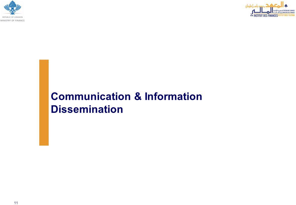 11 Communication & Information Dissemination