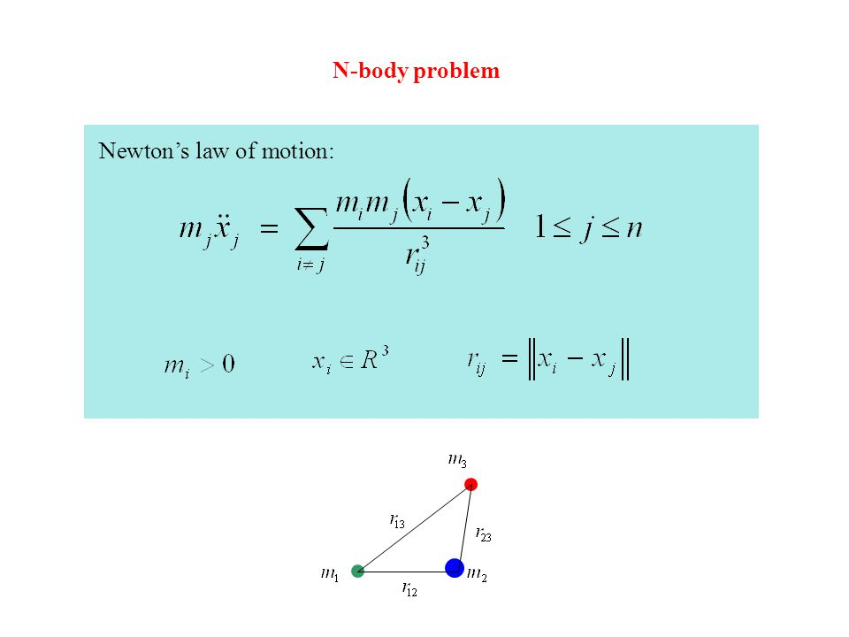 Newton's law of motion: N-body problem
