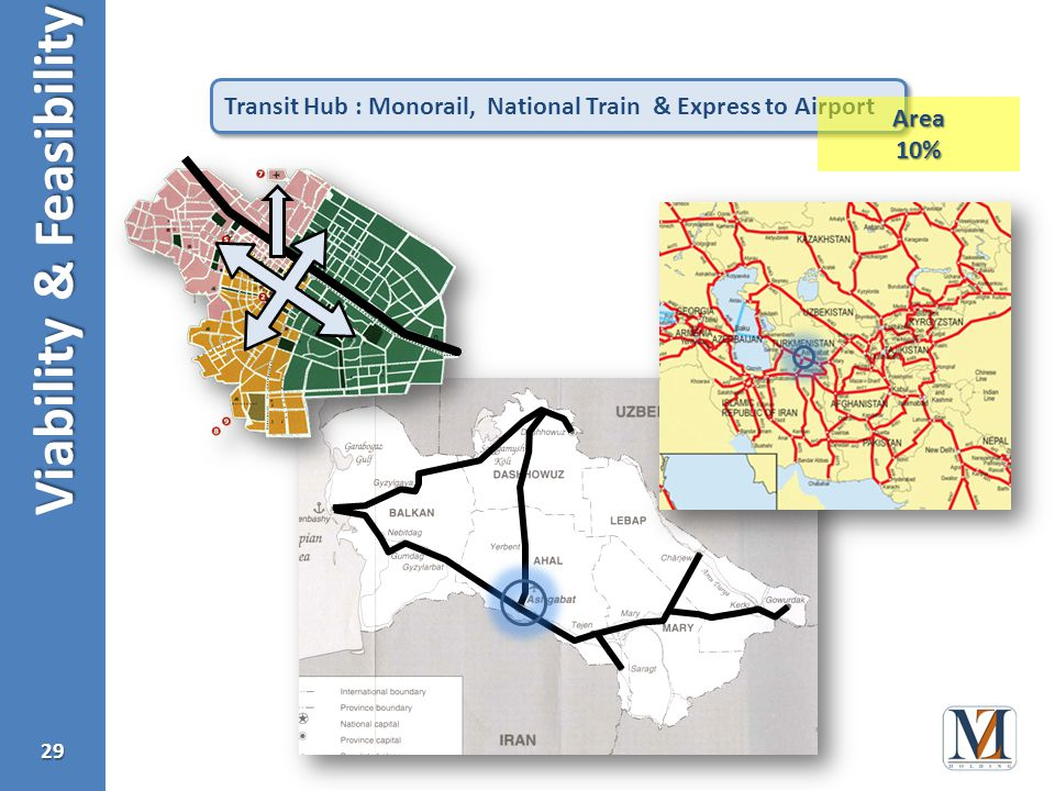 Viability & Feasibility 29 Transit Hub : Monorail, National Train & Express to Airport Area10%