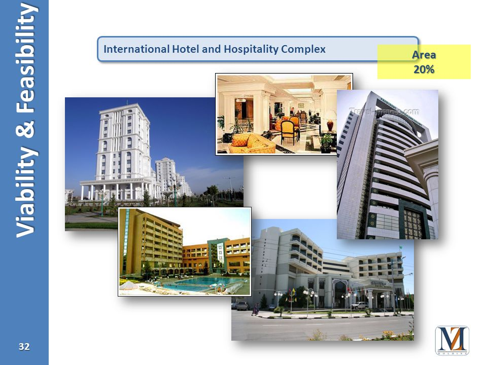 Viability & Feasibility 32 International Hotel and Hospitality Complex Area20%