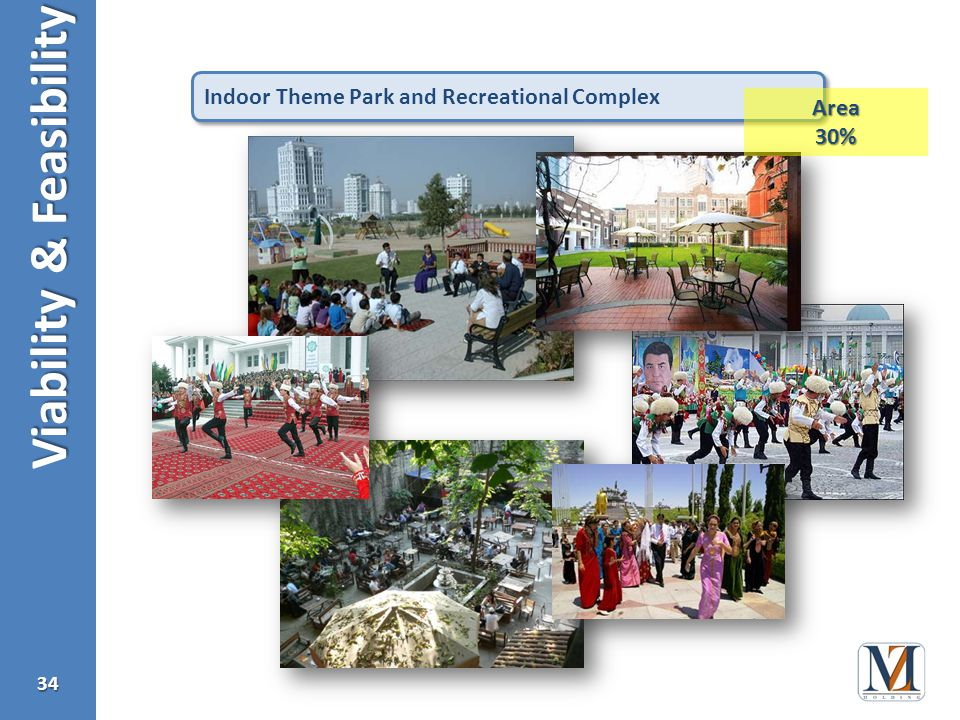 Viability & Feasibility 34 Indoor Theme Park and Recreational Complex Area30%