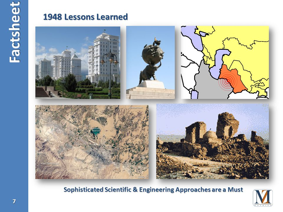 Factsheet Lessons Learned Sophisticated Scientific & Engineering Approaches are a Must